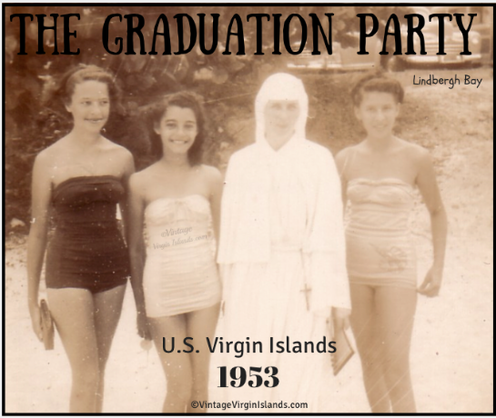 The Graduation party at Lindbergh Bay in St. Thomas, US Virgin Islands ~ 1953 By Valerie Sims