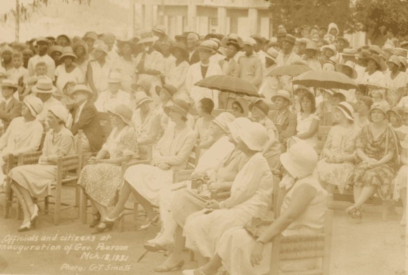 The Inauguration of the FIRST civilian Governor, Paul M. Pearson in the US Virgin Islands ~ 1931 By Valerie Sims