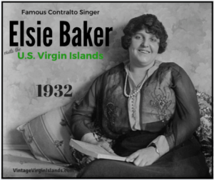 Elsie Baker performs in the US Virgin Islands ~ 1932. By Valerie Sims