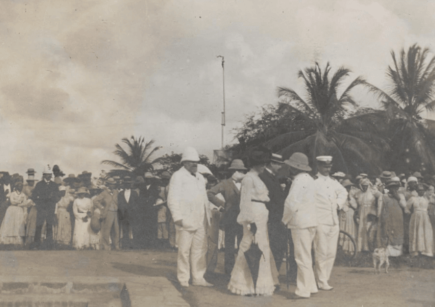 President Theodore Roosevelt visits Frederiksted, St. Croix, Danish West Indies ~ 1916 By Valerie Sims