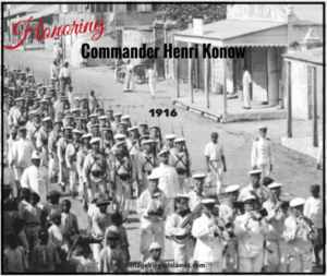 Honoring Henri Konow in St. Croix, Danish West Indies in 1916. By Valerie Sims
