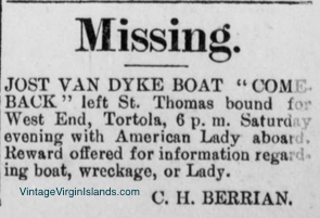 Missing boat, COME BACK vanishes without a trace in 1916! By Valerie Sims