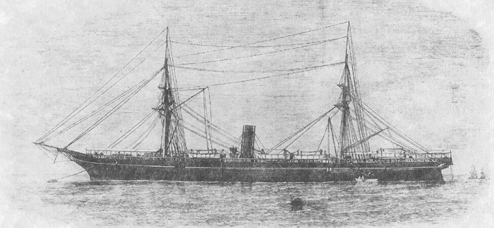 RMS Rhone of Salt Island, British Virgin Islands 1867