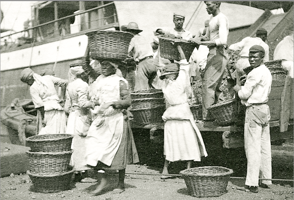 Coaling ladies at work on Hassel Island, Danish West Indies ~ 1907