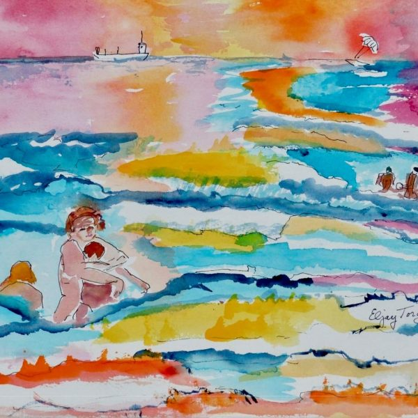 Pretty Seascape Beach Painting by Eljay Torgar Available
