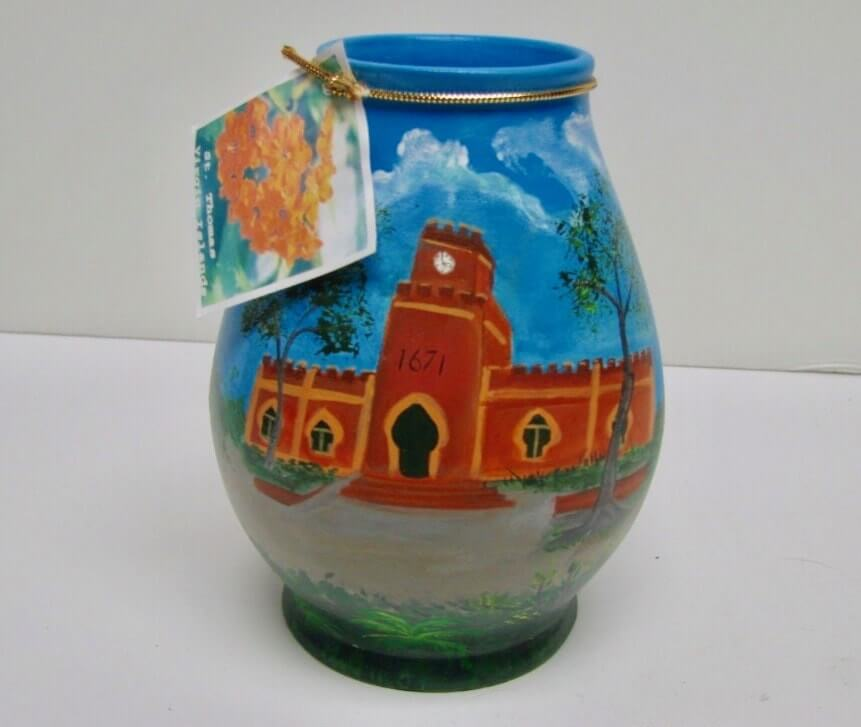 Fort Christian Ceramic Vase up for Sale