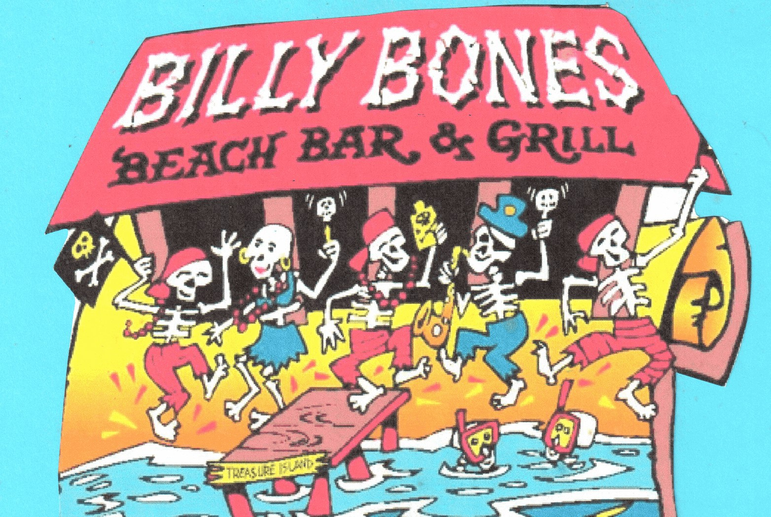 Billy Bones Beach Bar & Grill, Norman Islands, British Virgin Islands menu