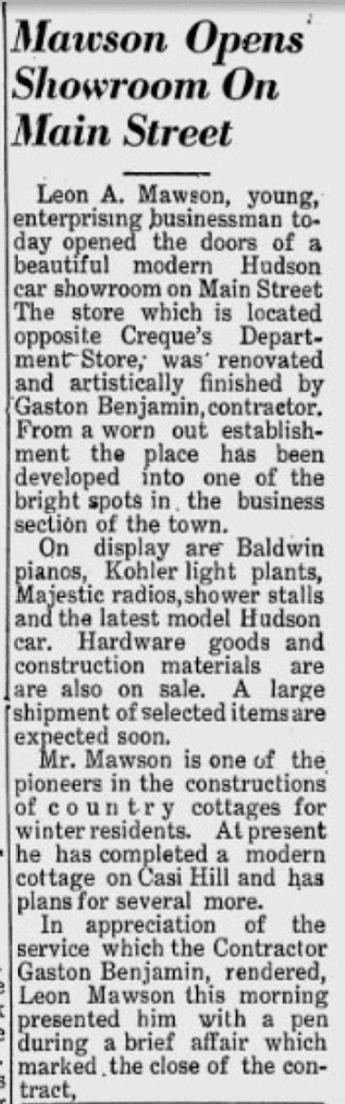 Aug 19, 1946, VI Daily News, Hudson Motors