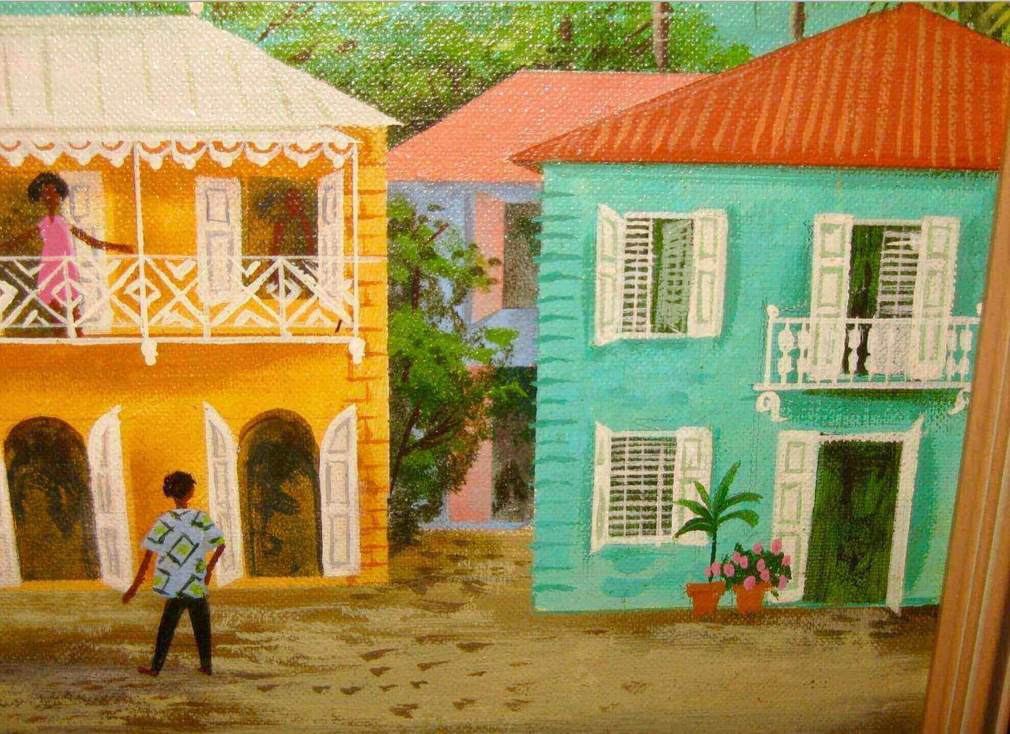 Ira Smith Painting of Main Street, St. Thomas