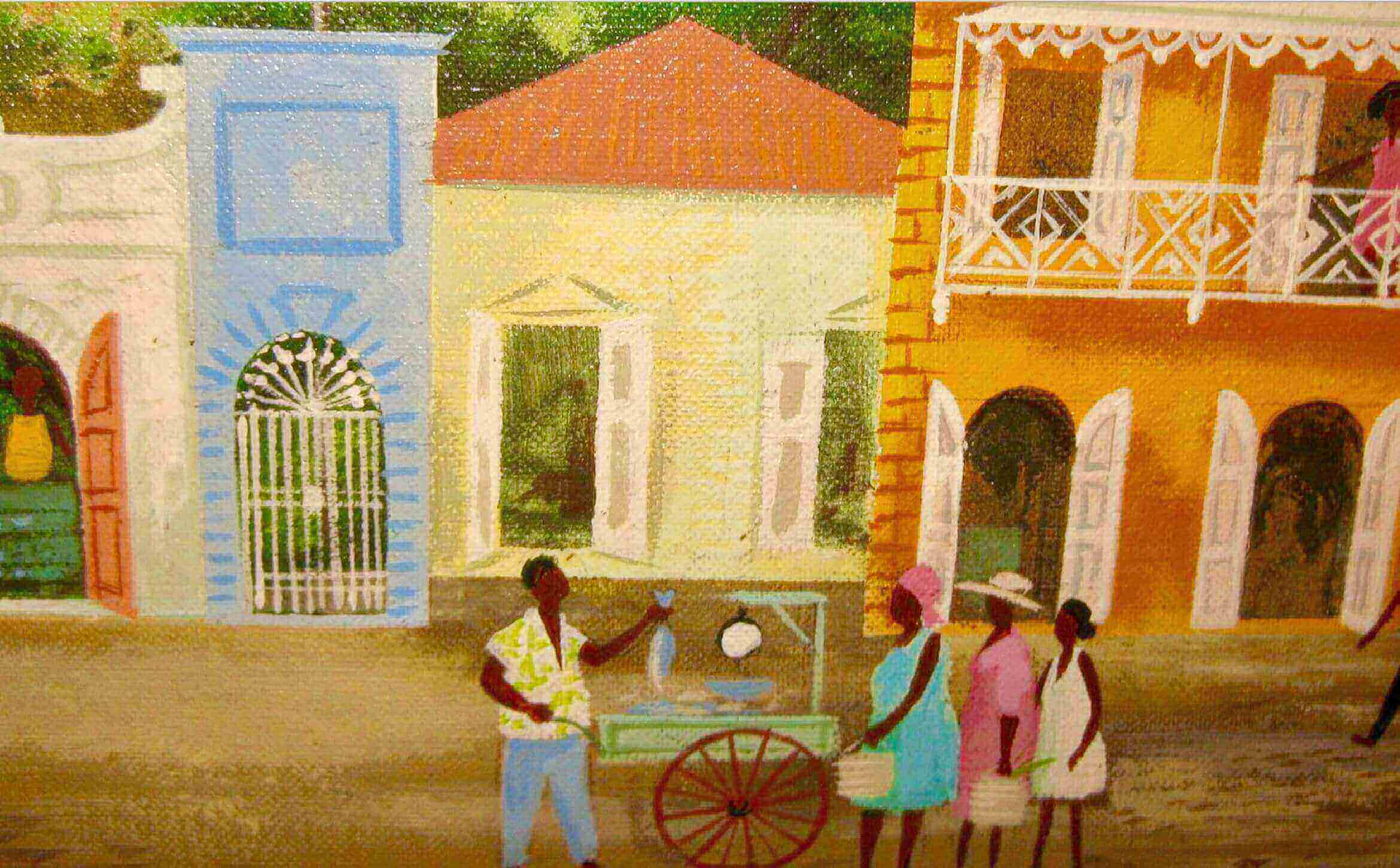 Ira Smith Painting of Main Street