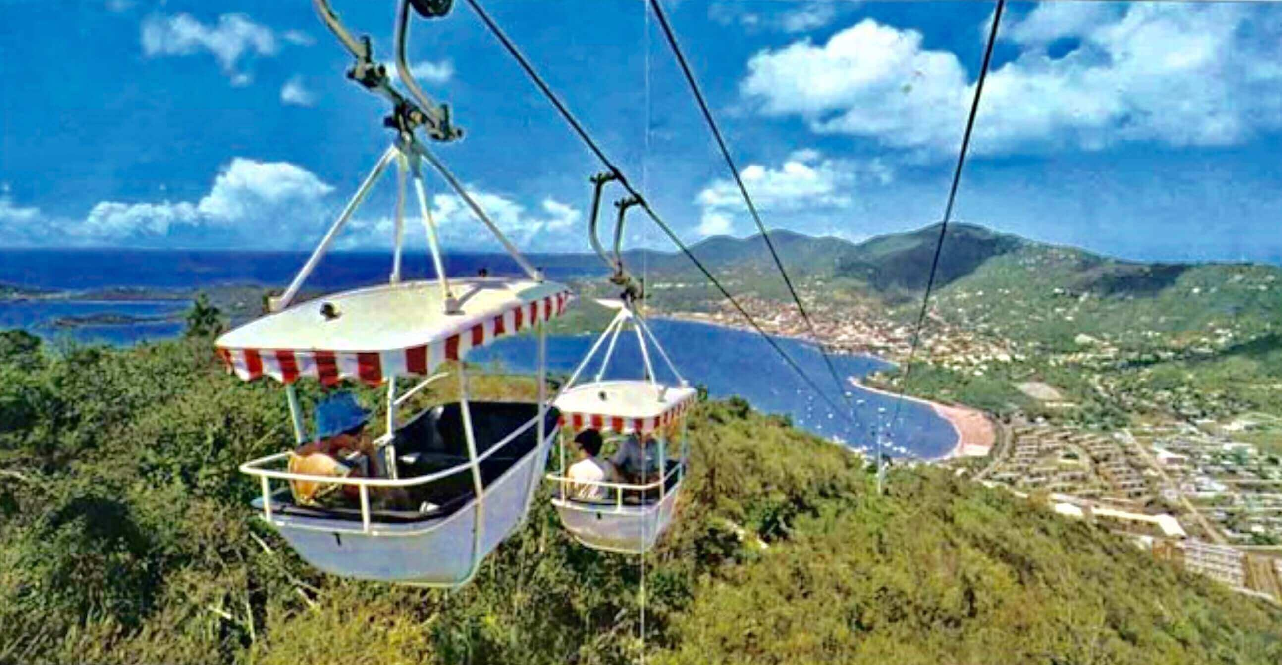 Tramway cablecar in St. Thomas, US Virgin Islands