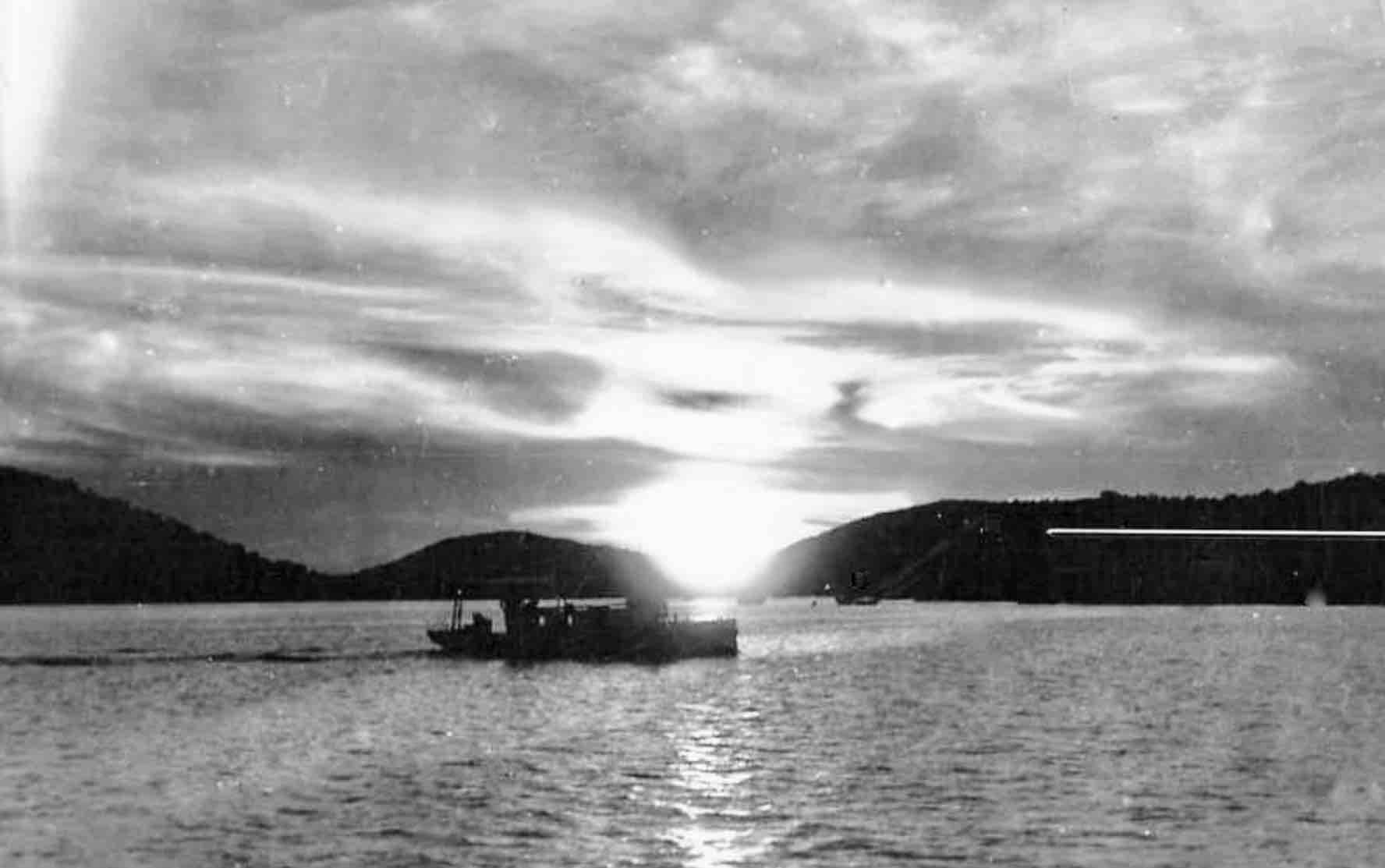 sunset in virgin islands, 1945