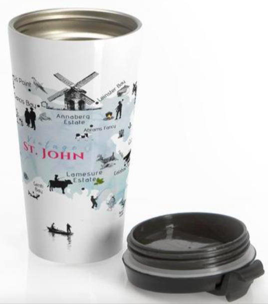 Mug with St. John map