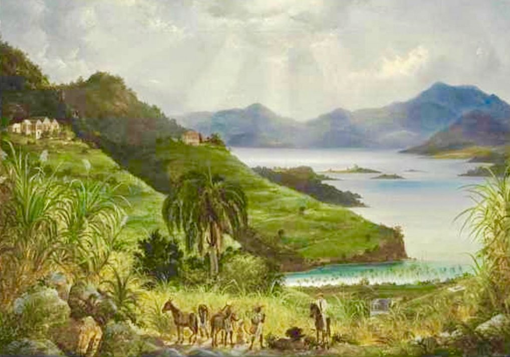 Cinnamon Bay by Fritz Melbye painting
