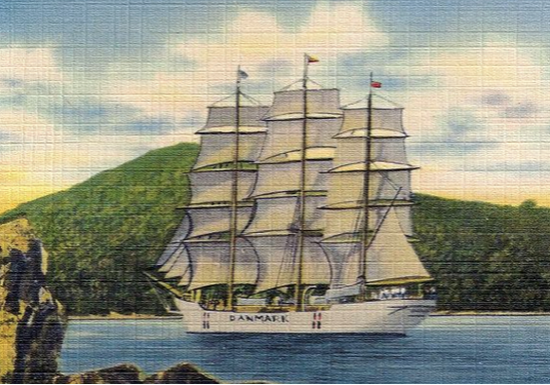 The First visit of the Danish Training ship, DANMARK to the US Virgin Islands ~ 1934 By Valerie Sims