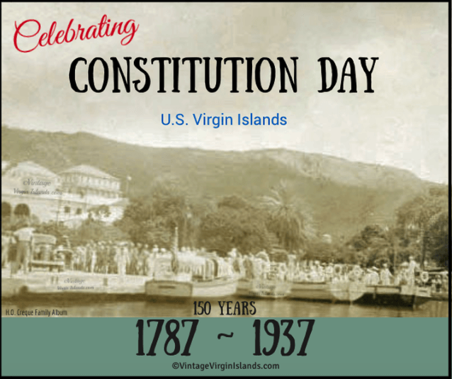Celebrating Constitution Day in St. Thomas, US Virgin Islands ~ 1937 By Valerie Sims