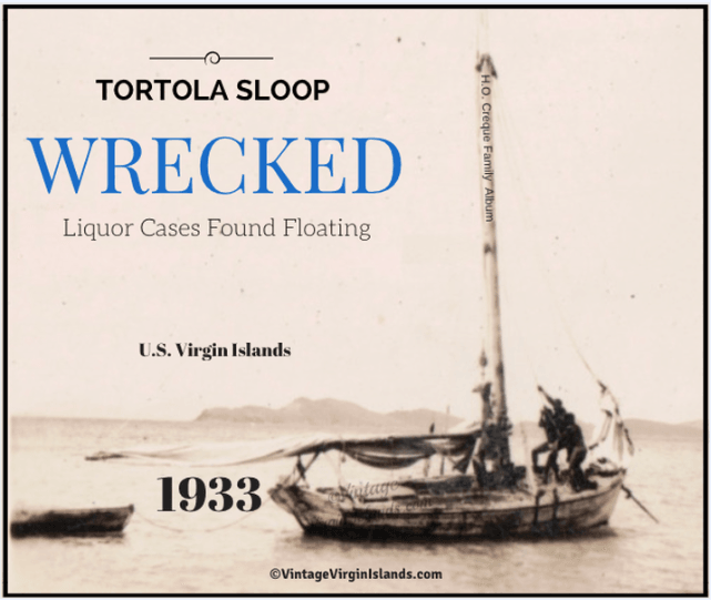 Tortola sloop wrecked off St. Thomas, US Virgin Islands ~ 1933 By Valerie Sims