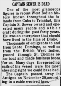 Captain Sewer passed away in 1936.