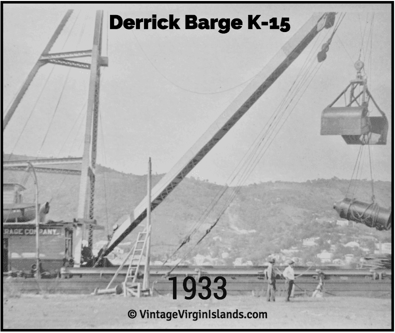 Derrick barge lifting crane