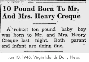 The Ten Pound Baby from the Virgin Islands