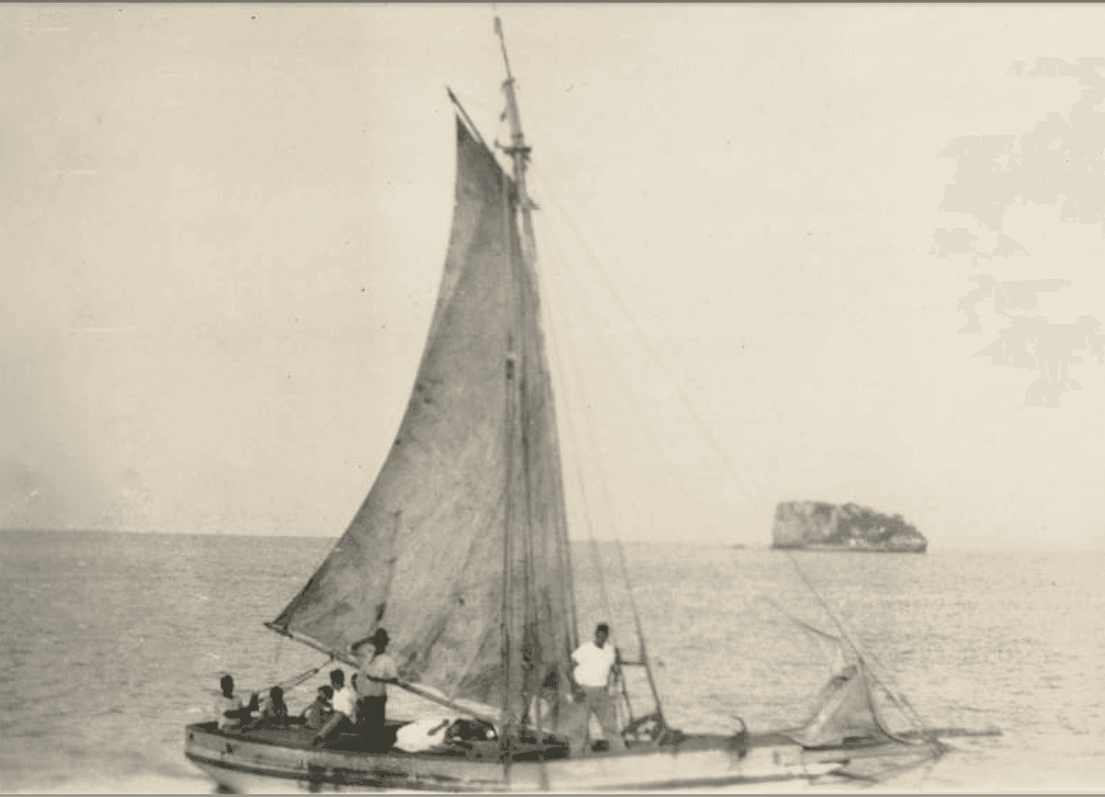 The Loss of the British sloop, KITE from Tortola, British Virgin Islands ~ 1901 By Valerie Sims