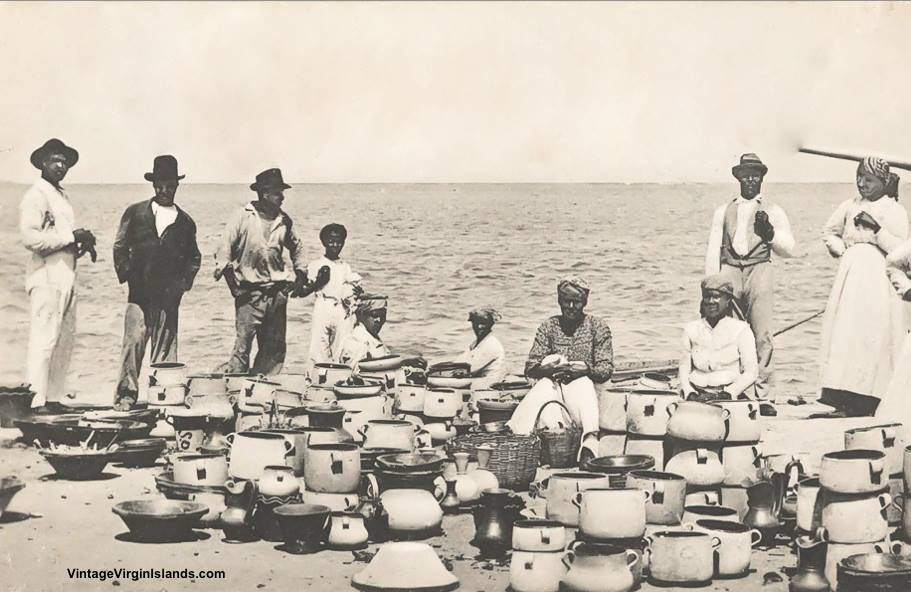 Pot sellers of St. Croix, Danish West Indies ~1907
