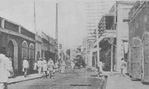 Vintage View of Main Street, St. Thomas, Danish West Indies ~ 1922