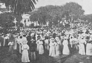 Unveiling the bust of King Christian IX in St. Thomas, Danish West Indies ~ 19090
