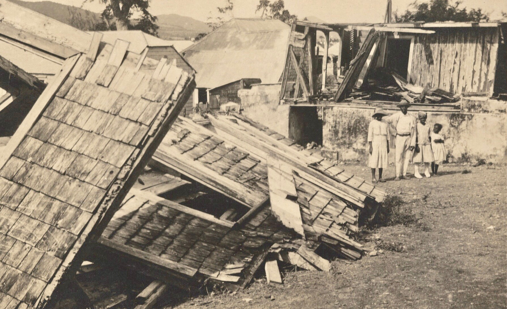 Hurricane of 1916 on St. Croix, Photo courtesy of the Danish National Archives