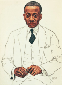 Portrait by artist, Winold Reiss