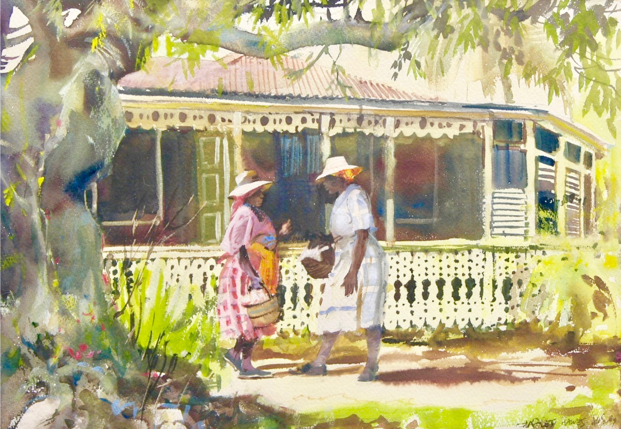 Charles Hawes painting of St. Croix, US Virgin Islands