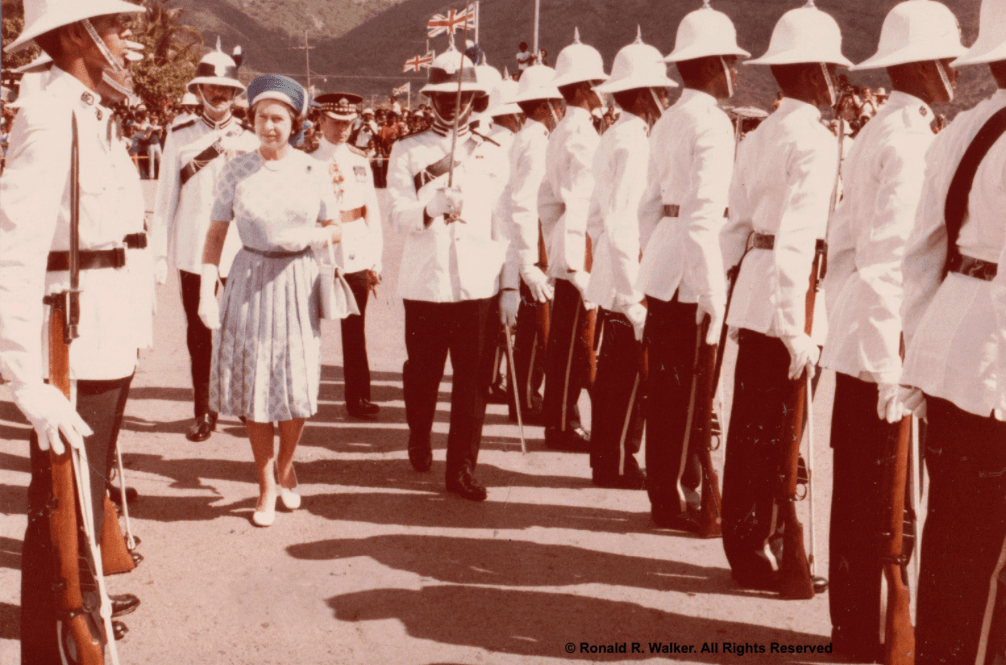Queen Elizabeth visits Tortola, British Virgin Islands