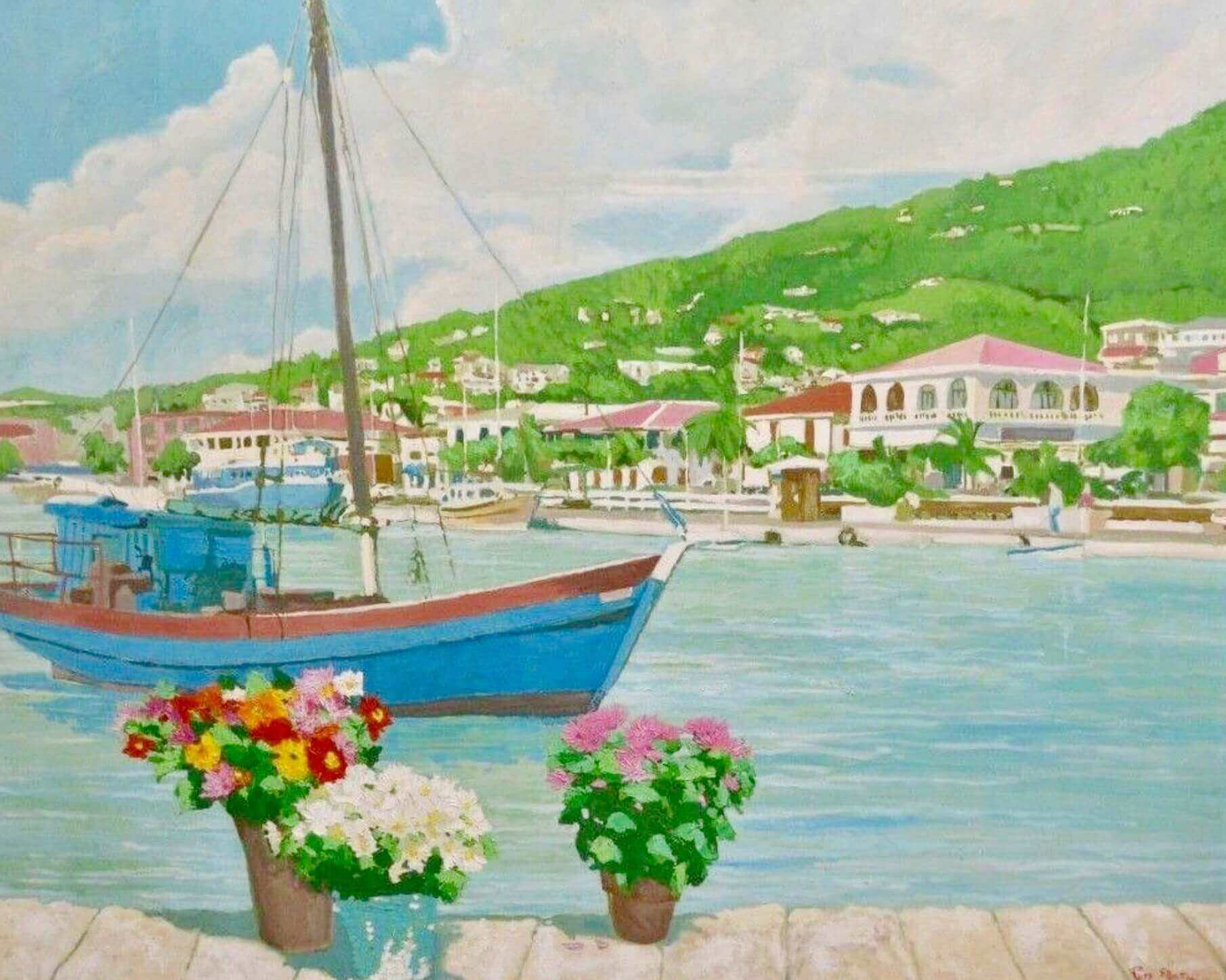 Beautiful painting by Russ Elliott of St. Thomas.